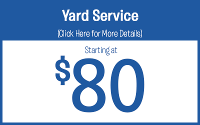 Yard Service Treatments starting @ $80